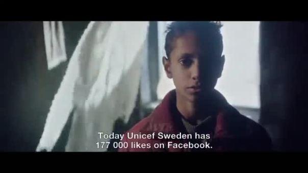UNICEF Sweden 'Likes don't save lives'